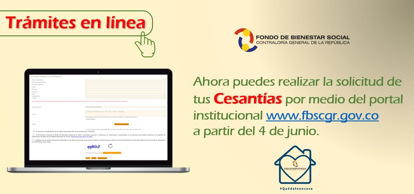 Informacion TRAMITE EL LÍNEA DE CESANTÍAS